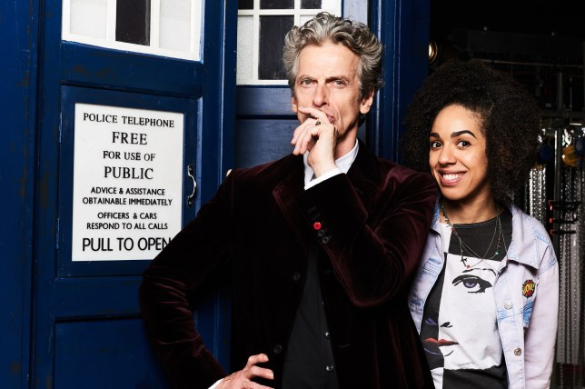 Programme Name: Doctor Who S10 - TX: 23/04/2016 - Episode: n/a (No. n/a) - Picture Shows: MEET PEARL MACKIE - THE DOCTOR'S NEW COMPANION The Doctor (PETER CAPALDI), Pearl Mackie - (C) BBC - Photographer: Ray Burmiston