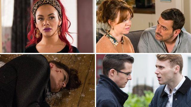 12 soap spoiler pictures: Emmerdale death fall, EastEnders clash, Coronation Street affair reveal, Hollyoaks dangerous arrival