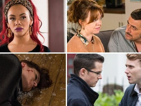 12 soap spoiler pictures: Emmerdale death fall, EastEnders clash, Coronation Street affair reveal, Hollyoaks dangerous arrival