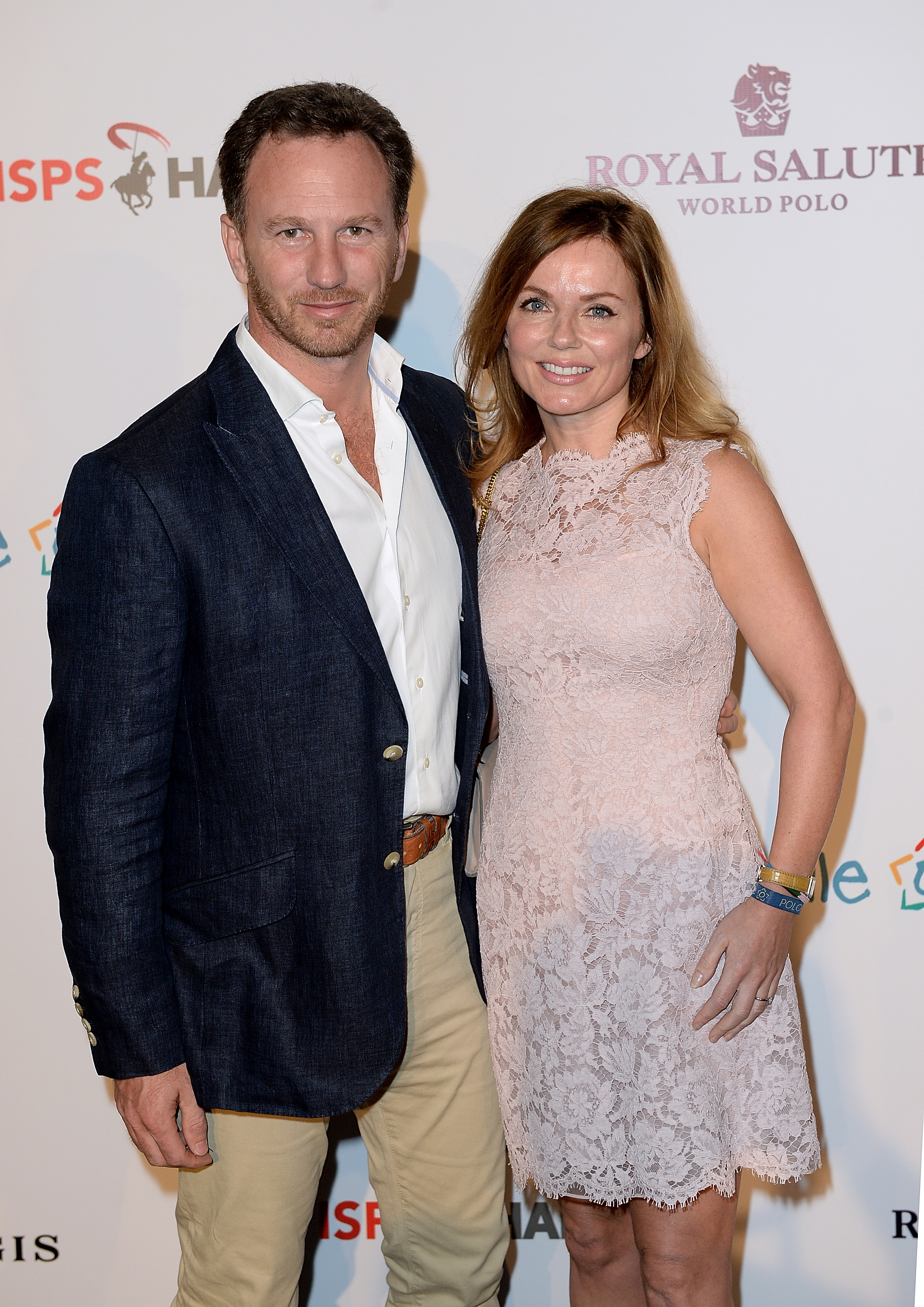 Geri with husband Christian (Picture: Getty Images for Royal Salute)