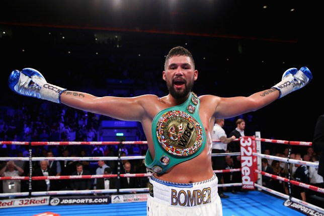 LIVERPOOL, ENGLAND - OCTOBER 15:  Tony Bellew of England celebrates after winning in the WBC Cruiserweight Championship match during Boxing at Echo Arena on October 15, 2016 in Liverpool, England.  (Photo by Alex Livesey/Getty Images)