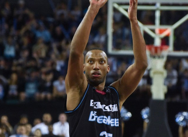 VECTOR ARENA, AUCKLAND, NEW ZEALAND - 2016/11/06: Aki Mitchell of New Zealand Breaker during the round five NBL match between New Zealand Breakers and Brisbane Bullets at Vector Arena in Auckland on Nov 6 , 2016. Breakers wins over Bullets 86-70. (Photo by Shirley Kwok/Pacific Press/LightRocket via Getty Images)