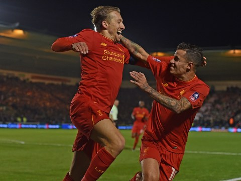 Lucas Leiva's header against Plymouth Argyle was his first goal for Liverpool in almost seven years