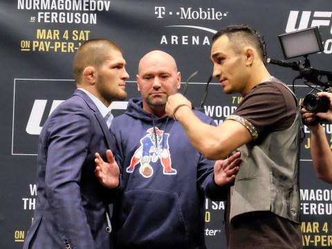 Khabib Nurmagomedov says he wants to break Tony Ferguson's arm at UFC 209