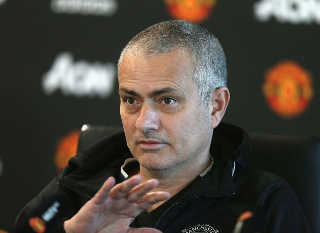 MANCHESTER, ENGLAND - JANUARY 25: (EXCLUSIVE COVERAGE) Manager Jose Mourinho of Manchester United speaks during a press conference at Aon Training Complex on January 25, 2017 in Manchester, England. (Photo by Matthew Peters/Man Utd via Getty Images)