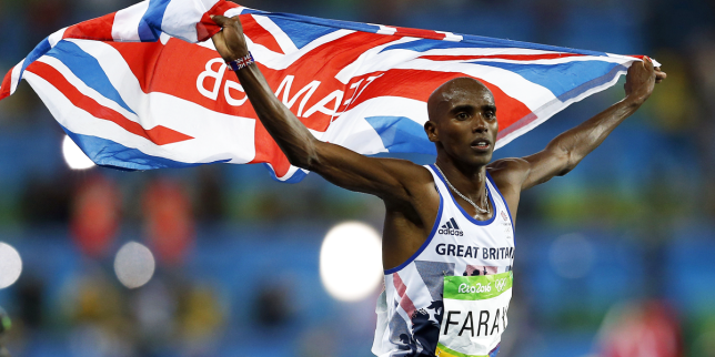 Mo Farah responds to Donald Trump's immigration ban that separates him from his family Credit: PA