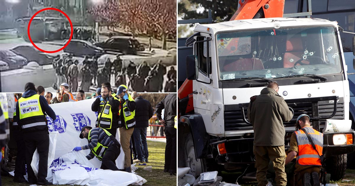 At least four dead after truck rams into crowd on promenade in Jerusalem