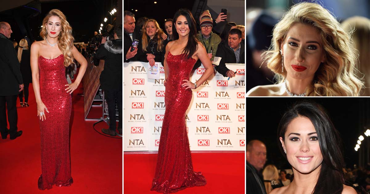 Stacey Solomon and Sam Quek embraced wearing the same dress to the National Television Awards (Picture: Getty Images/GoffPhotos)
