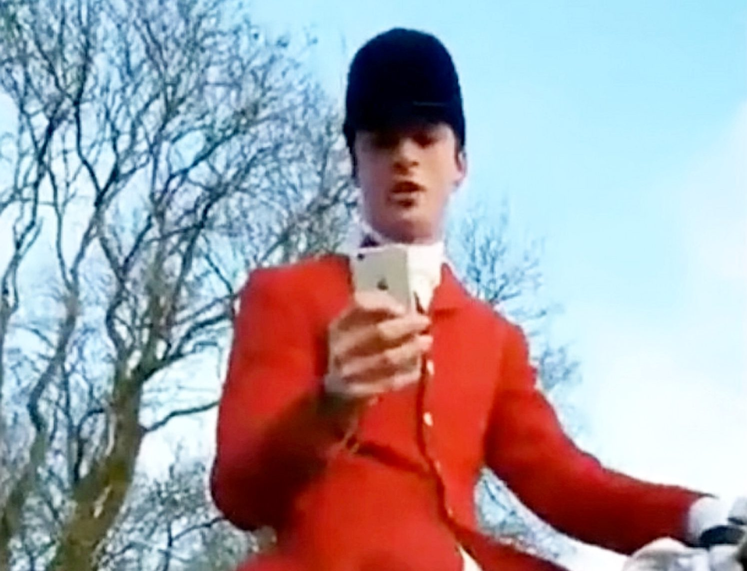 "This is the extraordinary moment a Tory councillor appears to try and silence claims he was illegally hunting a fox by telling a female activist: ""I'd quite like to SHAG you."" See SWNS story SWHUNT. Middleton hunt master Charles Carter, 33, is filmed telling the woman that she is ""very pretty"" before requesting her number and asking: ""Can I take you to bed please?"" The young Breckland Council member made the remarks after being challenged by activists during a meet of the Middleton Hunt, North Yorks. Police confirmed they are investigating the incident and constituents and animal rights activists have since called for Carter to resign or be sacked."