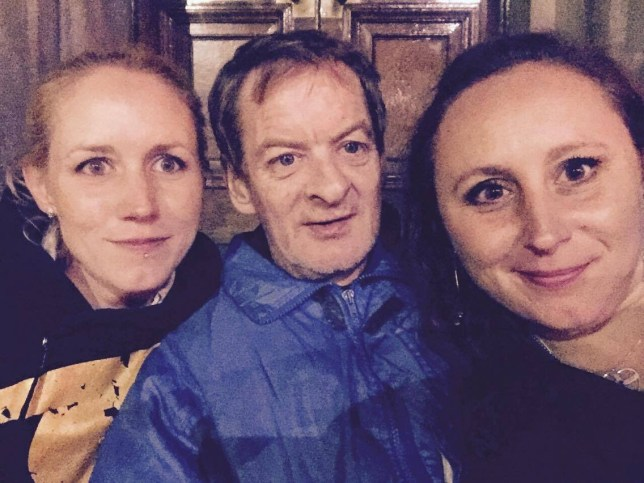 Swedish sister Annis Lindkvist (R) and her younger sister Emma ¿hlstr^m (L) invited homeless Edinburgh man Jimmy Fraser, 54,  to their home in Sweden for Christmas after a chance encounter in the Scottish capital. The three are seen here in Edinburgh shortly after meeting.    See Centre Press story CPSWEDEN; A man who was homeless only a few months ago was invited to Sweden for Christmas after giving two tourists directions to a pub. Jimmy Fraser, 54, was begging on a busy street in the Scottish Capital when Swedish sisters Annis, 37, and Emma, 31, Lindqvist asked him for directions to a pub. From that moment, an unlikely friendship blossomed, as Annis and Jimmy stayed in touch by text after swapping numbers when she returned to say goodbye. Annis invited Jimmy home for Christmas, and even went as far as buying his tickets and sending money for a new passport to help make it happen. Now back in the Capital, Jimmy ñ who moved to Edinburgh 13 years ago after a family breakdown left him homeless ñ said he still couldnít believe what had happened. Jimmy said: ìI couldnít believe it anyway at first.