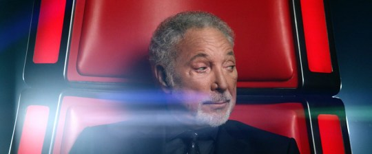 From ITV StudiosnnThe Voice UK on ITVnnPictured: The Voice UK promo, made by ITV Creative. Tom Jones.nnThis photograph is (C) ITV Plc and can only be reproduced for editorial purposes directly in connection with the programme or event mentioned above. Once made available by ITV plc Picture Desk, this photograph can be reproduced once only up until the transmission [TX] date and no reproduction fee will be charged. Any subsequent usage may incur a fee. This photograph must not be manipulated [excluding basic cropping] in a manner which alters the visual appearance of the person photographed deemed detrimental or inappropriate by ITV plc Picture Desk. This photograph must not be syndicated to any other company, publication or website, or permanently archived, without the express written permission of ITV Plc Picture Desk. Full Terms and conditions are available on the website www.itvpictures.comnnFor further information please contact:njames.hilder@itv.com / 0207 157 3052