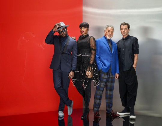 This image is strictly embargoed until 00.01 Tuesday 3rd January 2017nnFrom ITV StudiosnnThe Voice UK on ITVnnPictured: will.i.am, Jennifer Hudson, Sir Tom Jones and Gavin Rossdale.nnThis photograph is (C) ITV Plc and can only be reproduced for editorial purposes directly in connection with the programme or event mentioned above. Once made available by ITV plc Picture Desk, this photograph can be reproduced once only up until the transmission [TX] date and no reproduction fee will be charged. Any subsequent usage may incur a fee. This photograph must not be manipulated [excluding basic cropping] in a manner which alters the visual appearance of the person photographed deemed detrimental or inappropriate by ITV plc Picture Desk. This photograph must not be syndicated to any other company, publication or website, or permanently archived, without the express written permission of ITV Plc Picture Desk. Full Terms and conditions are available on the website www.itvpictures.comnnFor further information please contact:njames.hilder@itv.com / 0207 157 3052