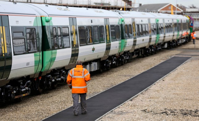 Rail staff failed to spot fake bomb planted on a train as part of security drill - just weeks after real device was found on Tube An employee passes an Electrostar train, manufactured for Southern Railway Ltd., as it undergoes tests at Bombardier Inc.'s Litchurch Lane railcar factory in Derby, U.K., on Tuesday, Feb. 25, 2014. Bombardier recently won a 1 billion-pound ($1.63 billion) contract to build 65 trains for London's Crossrail route, securing work at Britain's last railcar factory. Photographer: Chris Ratcliffe/Bloomberg via Getty Images