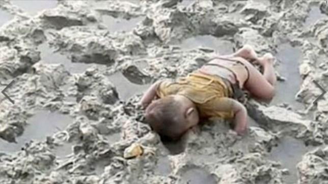 Rohingya drowned boy grab