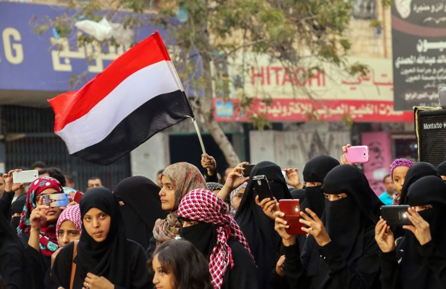 Woman who campaigned for female literacy in Yemen shot dead (Getty) Yemenis women wave their national flag and take photos with their mobile phones during a rally commemorating the fifth anniversary of the 2011 Arab Spring uprising that toppled the then-president Ali Abdullah Saleh, on February 11, 2016 in the southern city of Taez. / AFP / AHMAD AL-BASHA (Photo credit should read AHMAD AL-BASHA/AFP/Getty Images)