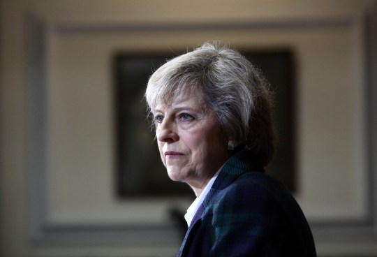 Theresa May, U.K. home secretary, looks on during a news conference to announce her Conservative party leadership bid in London, U.K., on Thursday, June 30, 2016. May, who backed the Remain campaign, will pledge to put a pro-Brexit minister in charge of the negotiations, and plans to say that the process will not be brief or straightforward. Photographer: Chris Ratcliffe/Bloomberg via Getty Images