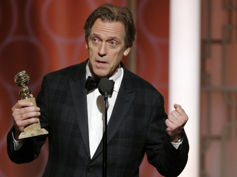 Hugh Laurie throws serious shade at Donald Trump as he accepts Night Manager Golden Globe