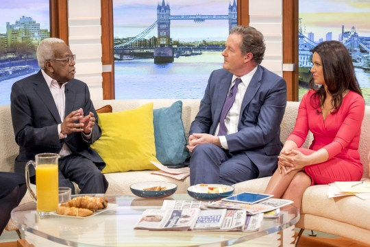 Sir Trevor also spoke about the forthcoming inauguration of president-elect Donald Trump (Picture: ITV/REX/Shutterstock)