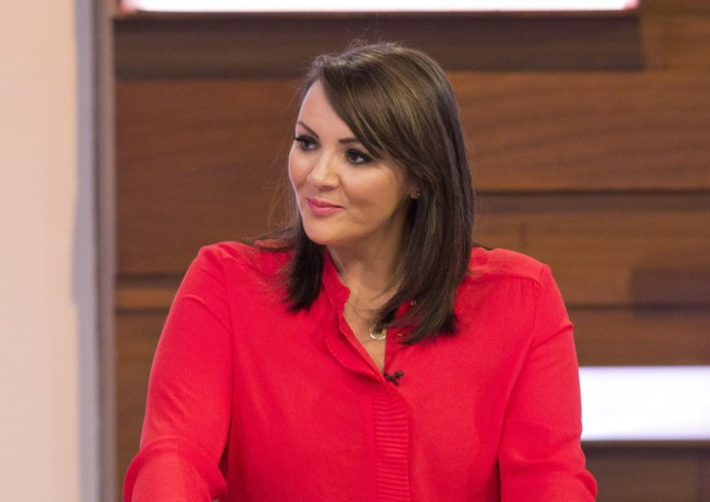EDITORIAL USE ONLY. NO MERCHANDISING Mandatory Credit: Photo by S Meddle/ITV/REX/Shutterstock (7898027ad) Martine McCutcheon 'Loose Women' TV show, London, UK - 18 Jan 2017