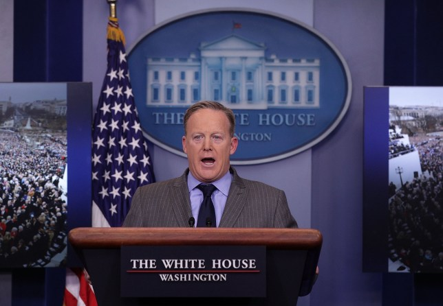Trump spokesman wasn't telling lies, he was giving 'alternative facts' (Getty) WASHINGTON, DC - JANUARY 21: White House Press Secretary Sean Spicer makes a statement to members of the media at the James Brady Press Briefing Room of the White House January 21, 2017 in Washington, DC. This was Spicer's first press conference as Press Secretary where he spoke about the media's reporting on the inauguration's crowd size. (Photo by Alex Wong/Getty Images)