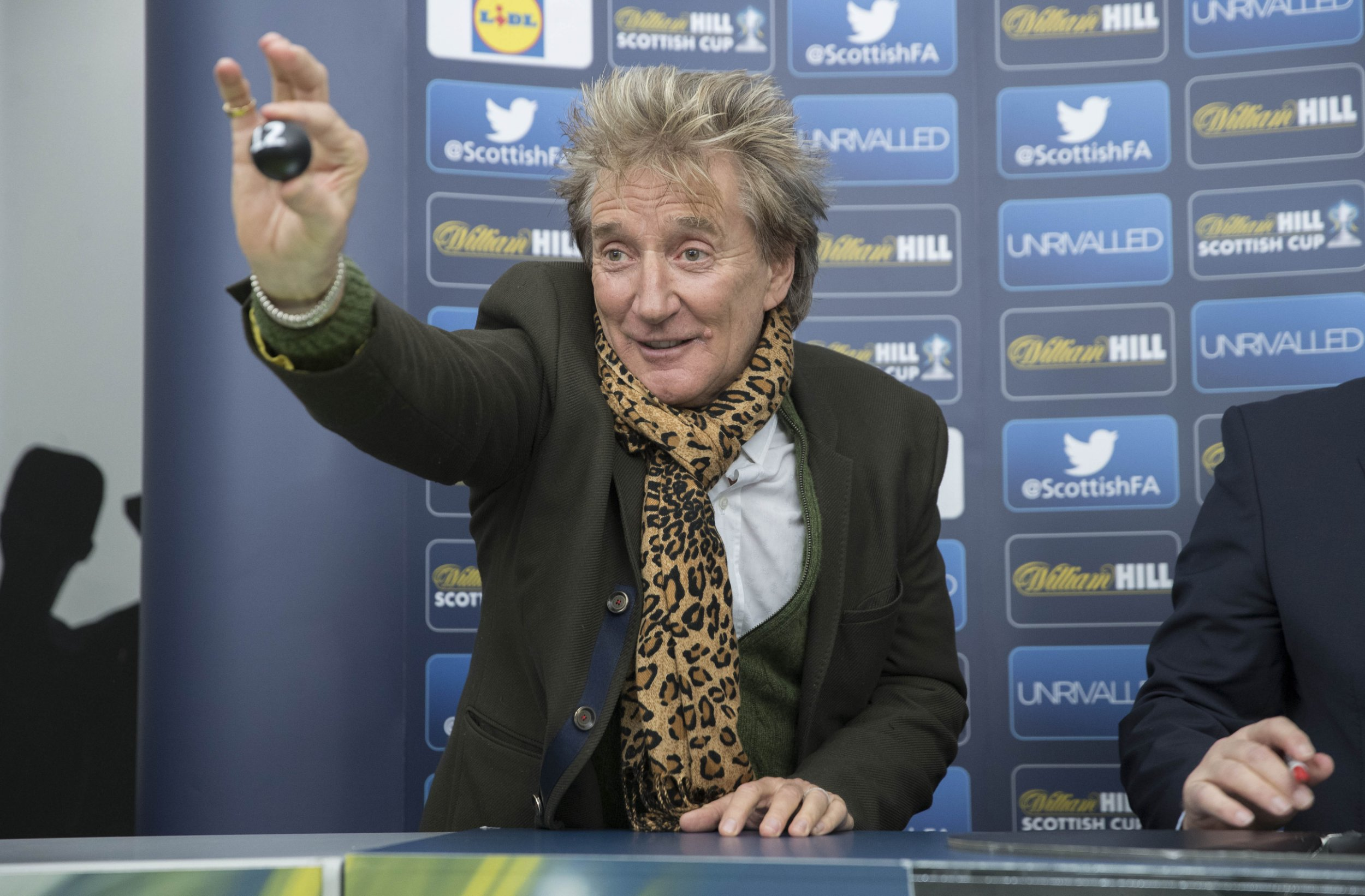 'I am flailing': Rod Stewart's antics at Scottish Cup Draw already a 'highlight of 2017'