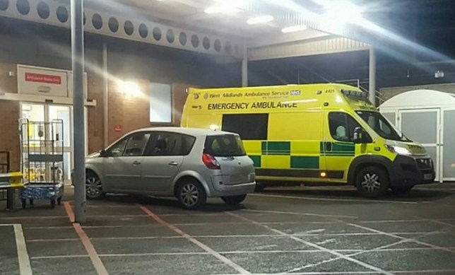 Paramedics have blasted a selfish driver who carelessly parked their car in an ambulance bay at a busy A&E department. See NTI story NTIBLOCK. The ìinconsiderateî motorist pulled into the prohibited parking space at around 11.30pm on Friday (20/1), only to then abandon their silver Renault Megane. The risky parking caused havoc for ambulances who were unable to park in close proximity to the doors of the A&E department at Good Hope Hospital in Sutton Coldfield, West Mids.