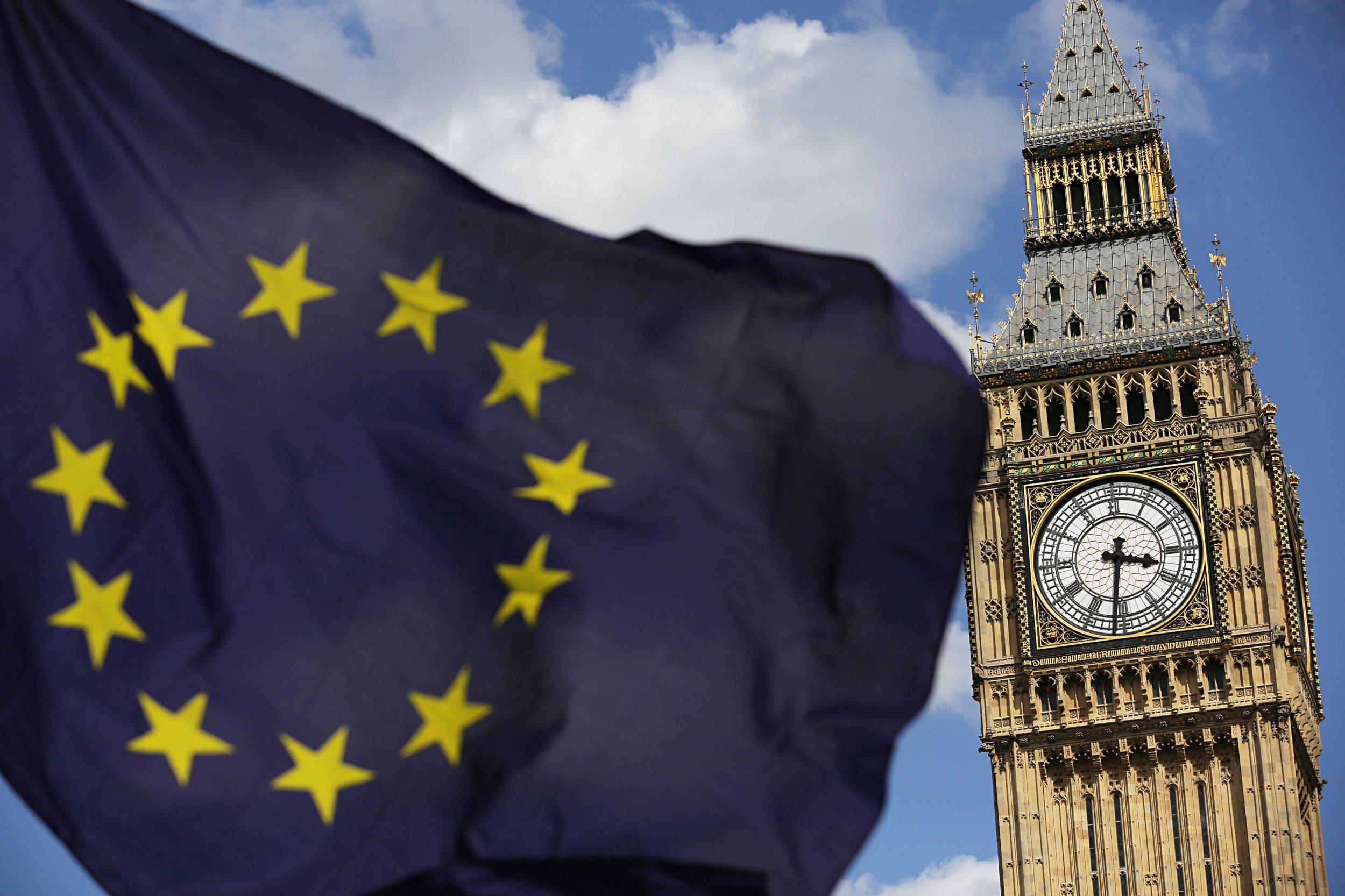 File photo dated 02/07/16 of a European Union flag in front of Big Ben, as legislation paving the way for Theresa May to start the Brexit process will be published today. PRESS ASSOCIATION Photo. Issue date: Thursday January 26, 2017. The first salvo in the parliamentary battle will be fired as ministers produce a Bill which will allow the UK to trigger Article 50, the formal procedure for leaving the European Union. See PA story POLITICS Brexit. Photo credit should read: Daniel Leal-Olivas/PA Wire