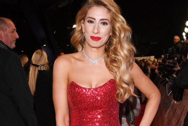 Stacey Solomon walks the red carpet at the National Television Awards in London (Picture: Getty Images)