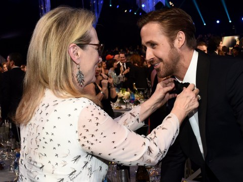 Meryl Streep fixing Ryan Gosling's bow tie at the SAG Awards 2017 was the cutest