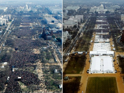 There were quite a few more people at Obama's inauguration than Trump's