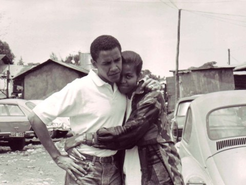 Barack and Michelle Obama's love story in pictures