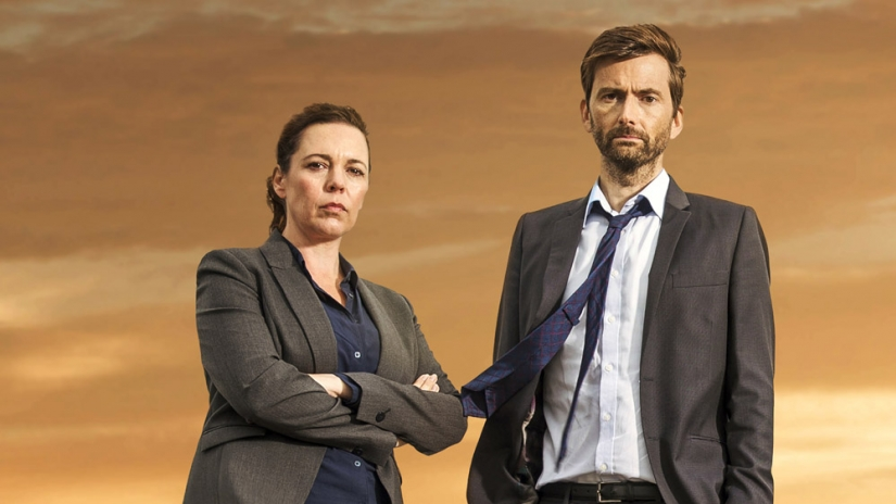 Ellie and Alec in Broadchurch