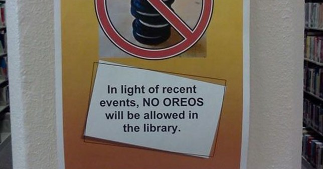 This woman desperately needs answers after finding out her library has banned oreos