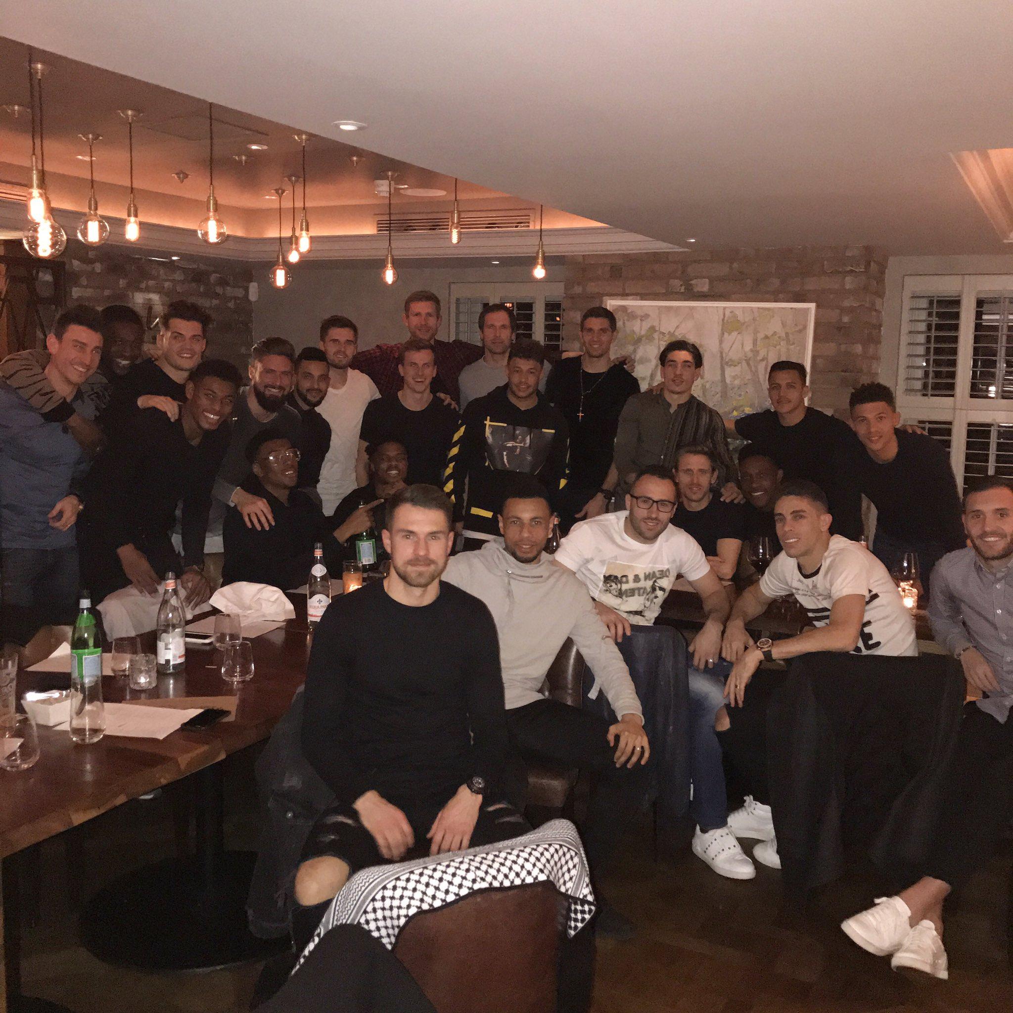 Yaya Sanogo spotted at Arsenal's team dinner