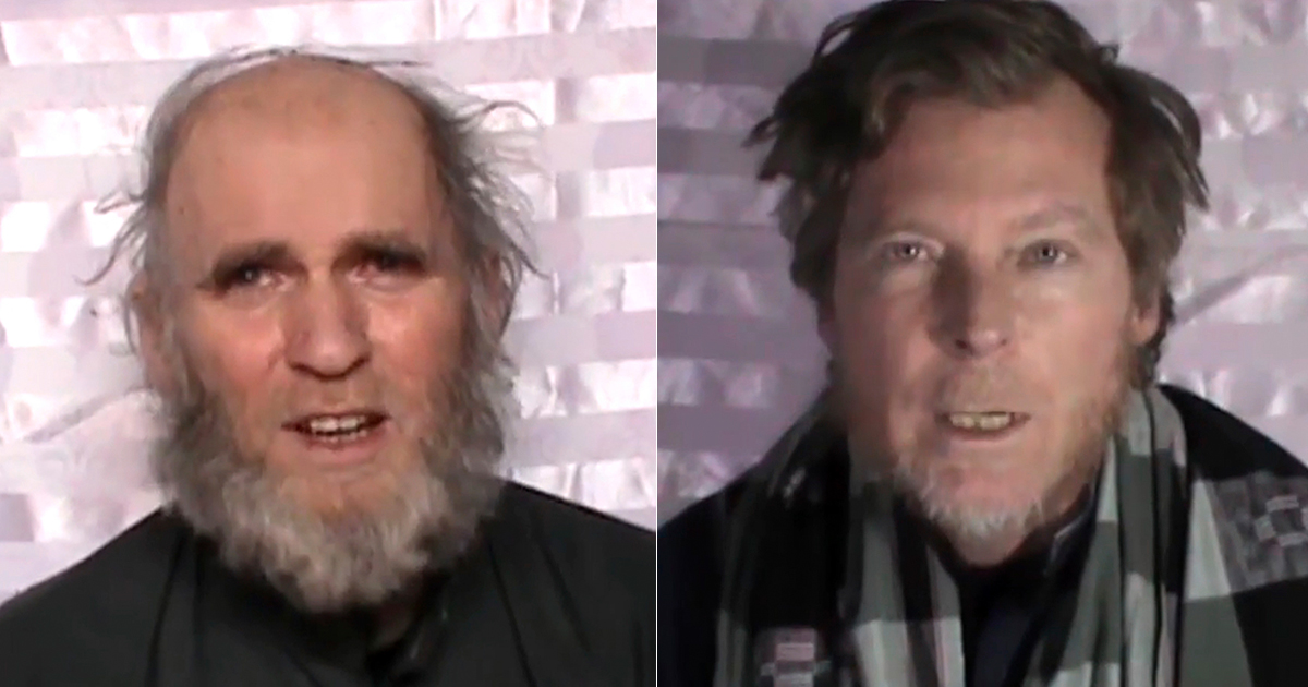 New Taliban video shows hostages who've been held captive since August