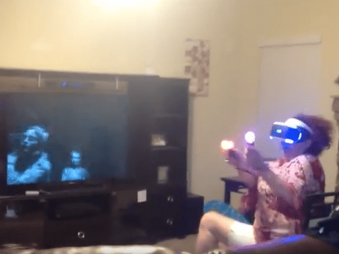 Grandmother's first experience with virtual reality left her full of regret
