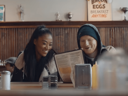 Ed Sheeran released the video for Shape Of You and the end is so random