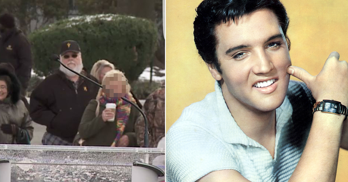 Elvis fans claim this photograph proves the late King of Rock 'n' Roll is alive