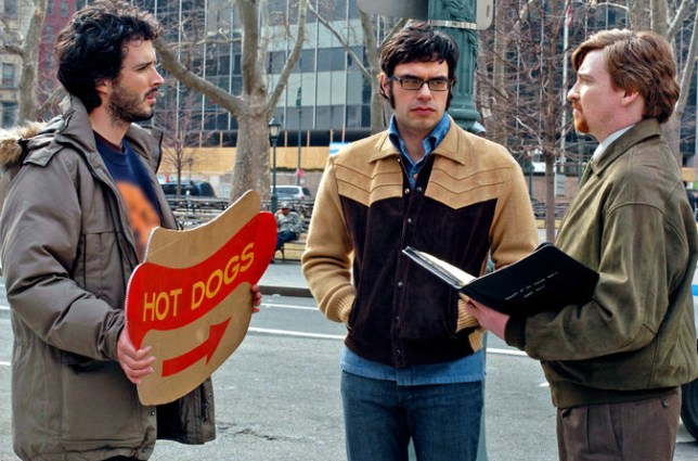 Bret McKenzie, Jermaine Clement and Rhys Darby in Flight Of The Conchords (Picture: HBO)