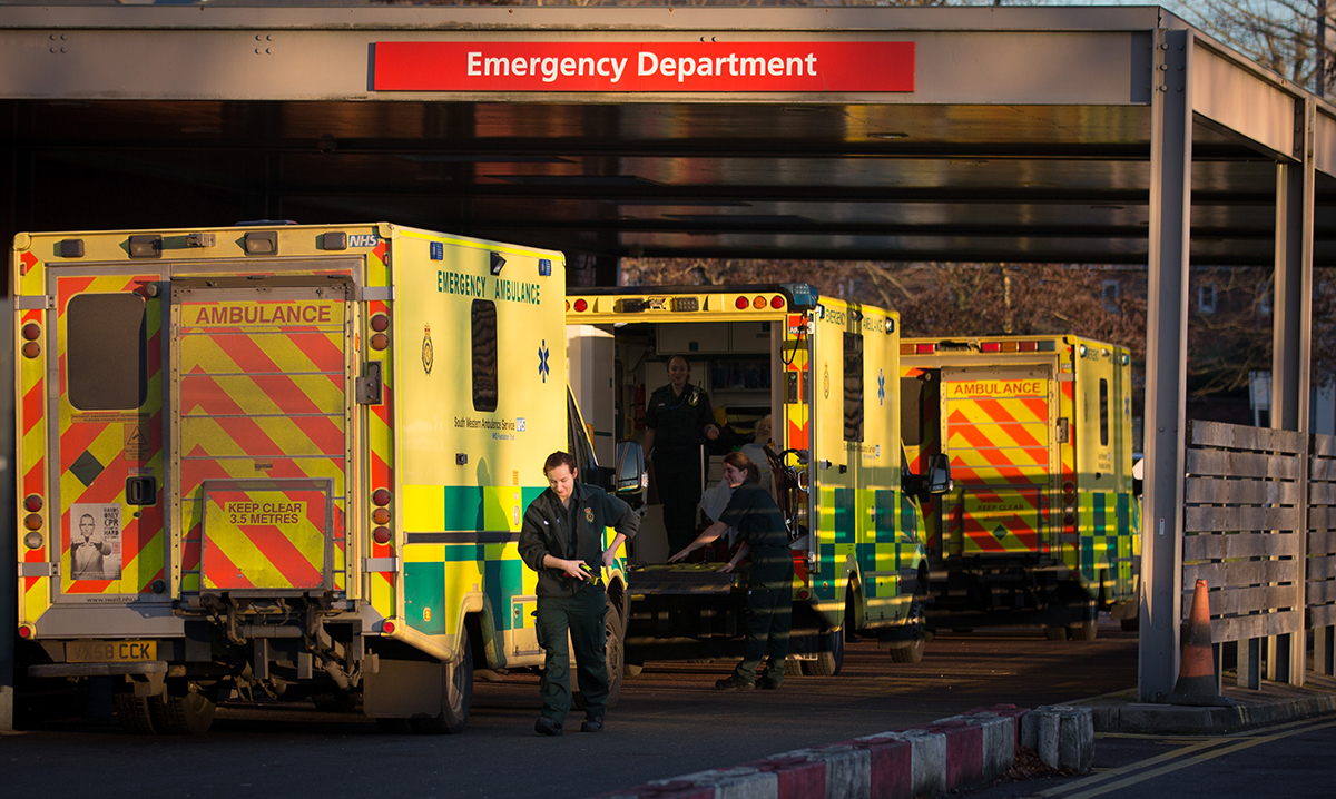 23 hospitals were forced to declare black alerts (Picture: Getty Images)