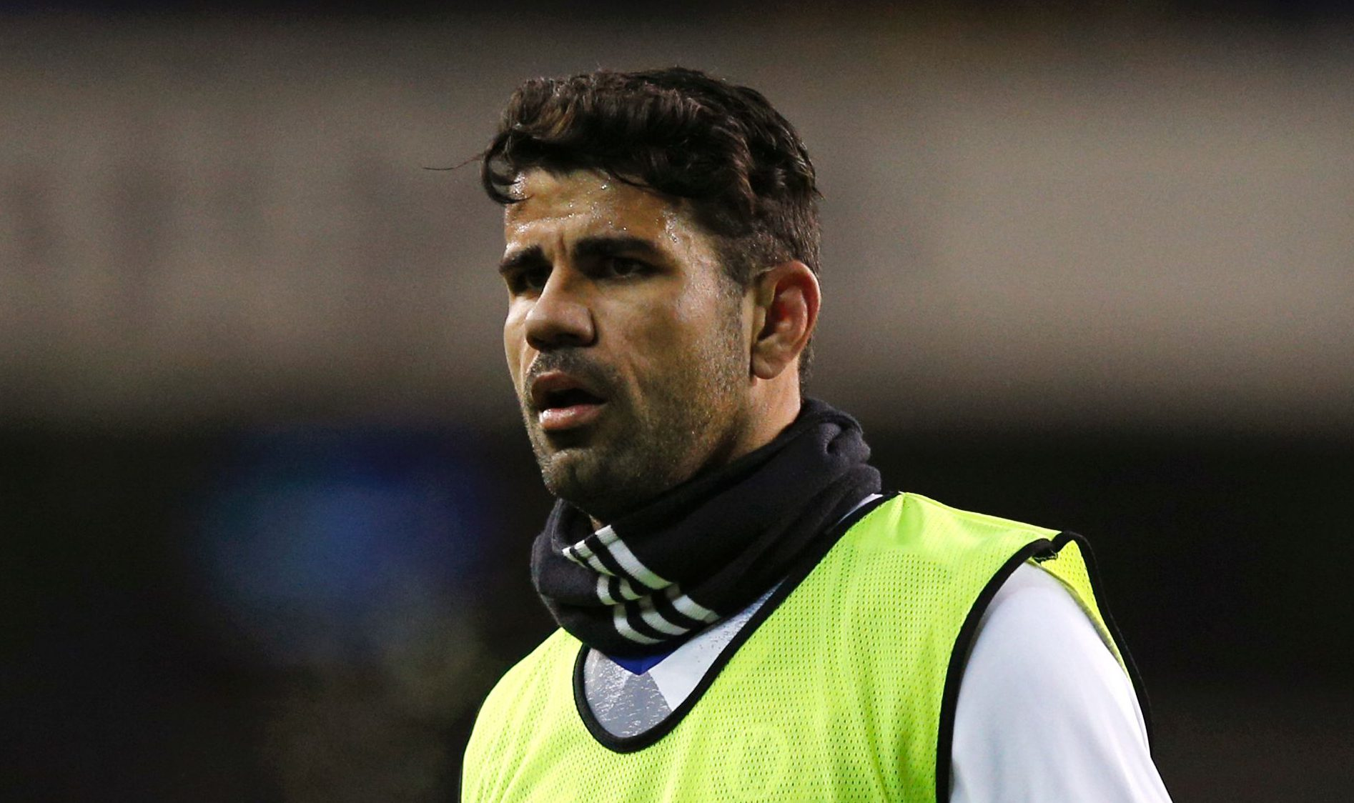 Chelsea's Brazilian-born Spanish striker Diego Costa warms up ahead of the English Premier League football match between Tottenham Hotspur and Chelsea at White Hart Lane in London, on January 4, 2017. / AFP / Adrian DENNIS / RESTRICTED TO EDITORIAL USE. No use with unauthorized audio, video, data, fixture lists, club/league logos or 'live' services. Online in-match use limited to 75 images, no video emulation. No use in betting, games or single club/league/player publications.  /         (Photo credit should read ADRIAN DENNIS/AFP/Getty Images)