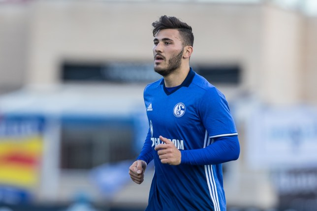 BENIDORM, SPAIN - JANUARY 10: Sead Kolasinac of Schalke looks on during the friendly match between FC Schalke 04 v KV Oostende - Friendly Match at Estadio Municipal Guillermo Amor on January 10, 2017 in Benidorm, Spain. (Photo by TF-Images/Getty Images)
