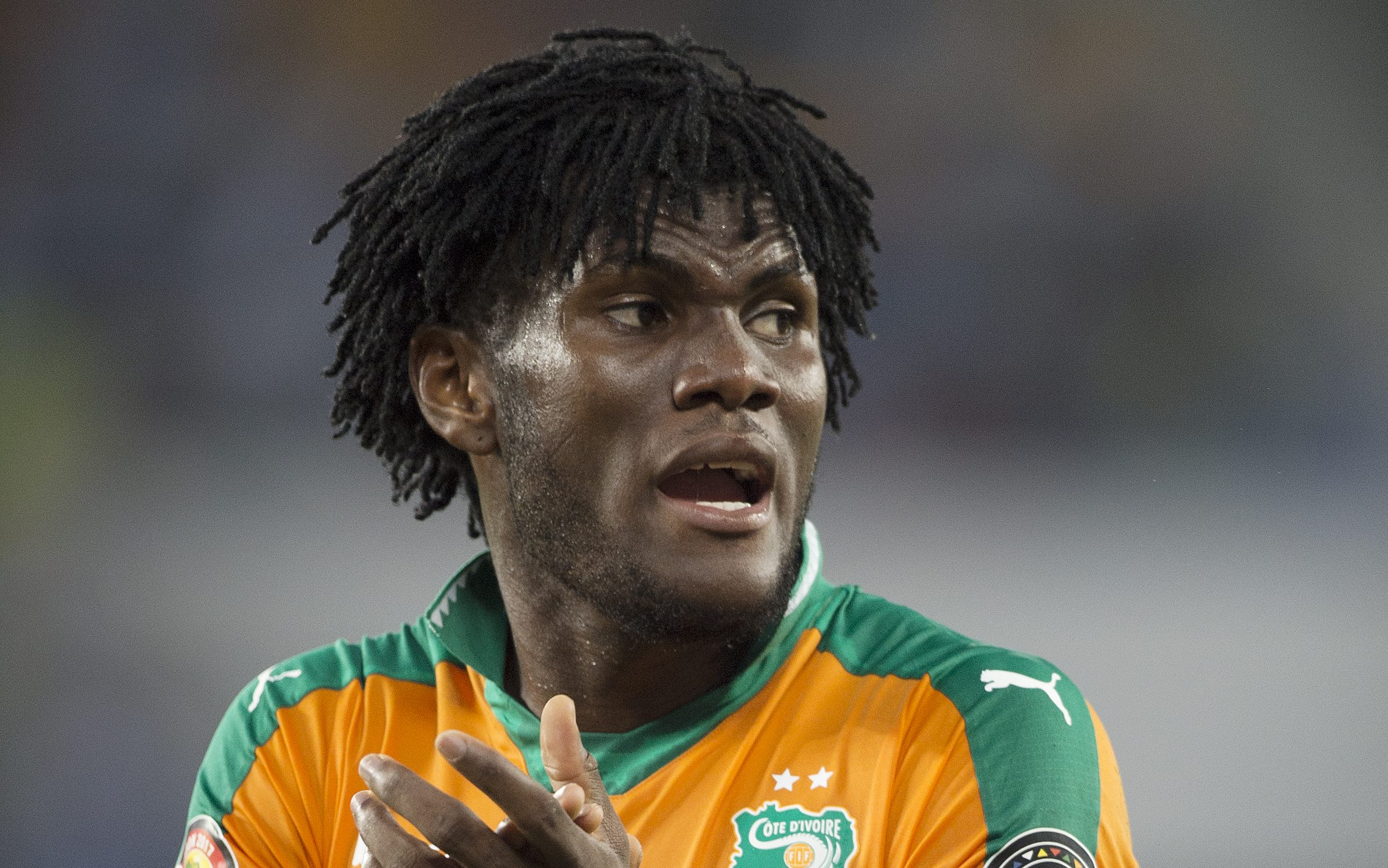 OYEM, GABON - JANUARY 20: FRANCK YANNICK KESSIE of Ivory Coast during the Group C match between Ivory Coast and DR Congo at Stade Oyem on January 20, 2017 in Oyem, Gabon. (Photo by Visionhaus/Corbis via Getty Images)