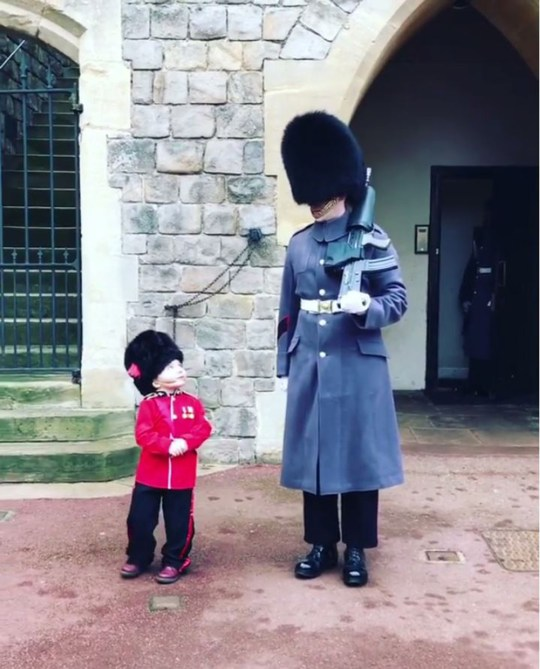 Kid's costume at Changing of the Guard is unbearably cute