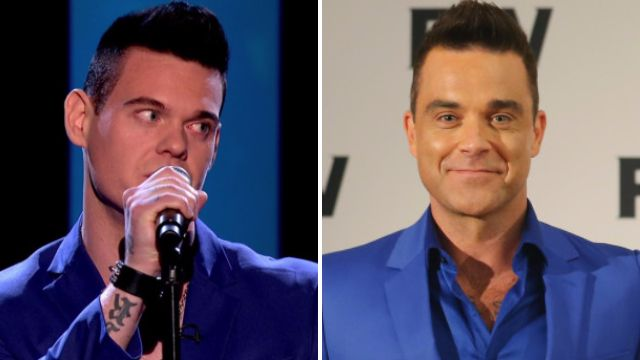A Robbie Williams lookalike sang an anti-Take That song on Let It Shine and it was awkward