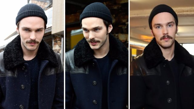 Nicholas Hoult has a hipster moustache now and we need to talk about it