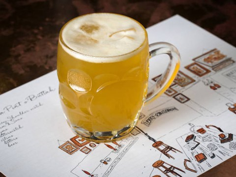 Butterbeer is available on tap from this London speakeasy