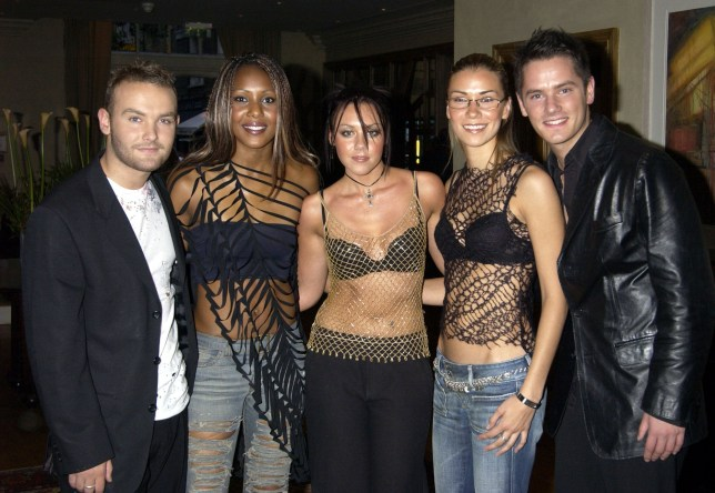 SHOWBIZ Bourne/Liberty X...Libert X arrive for a private celebrity screening of Matt Damon's new film 'The Bourne Identidy' at the Charlotte Street Hotel in London Tuesday 3 September 2002. PA Photo: William Conran....a...London...UK