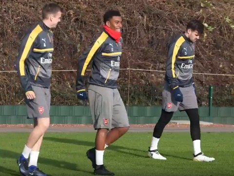 Carl Jenkinson looks miserable in Arsenal training after Crystal Palace move collapses