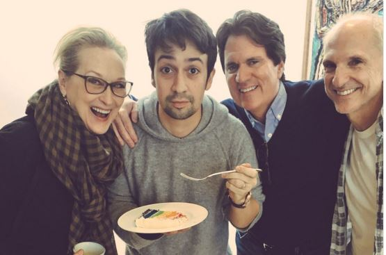 Lin-Manuel Miranda shares birthday snap with Meryl Streep ahead of filming for Mary Poppins Returns